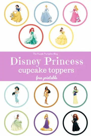 Disney Princess Cupcake Toppers - Free Printable. These are PERFECT for a Disney Princess themed birthday party! Just print and cut as many as you need!