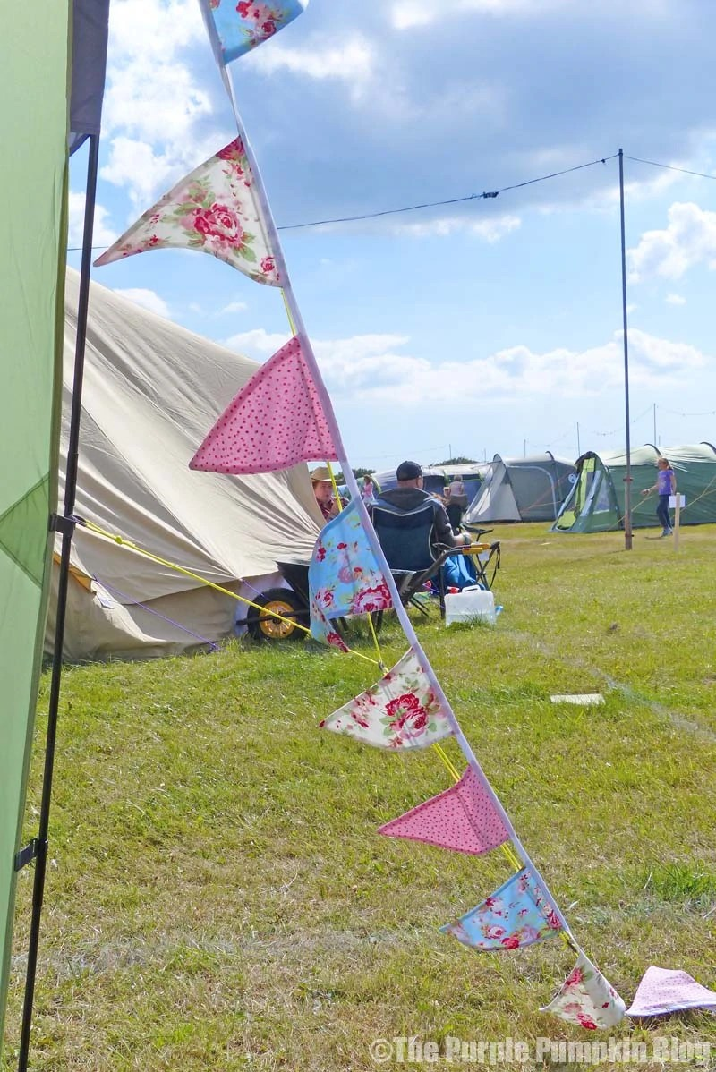 Fabric Bunting on tent