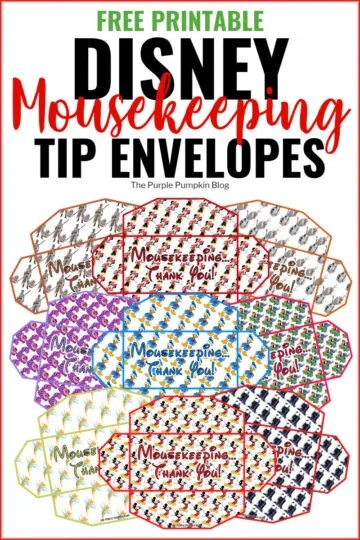 Free Printable Disney Mousekeeping Envelopes