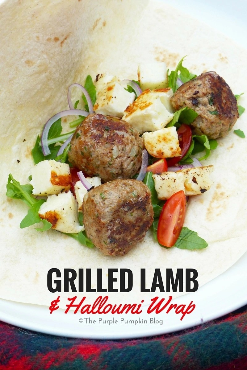 Grilled Lamb and Halloumi Wrap