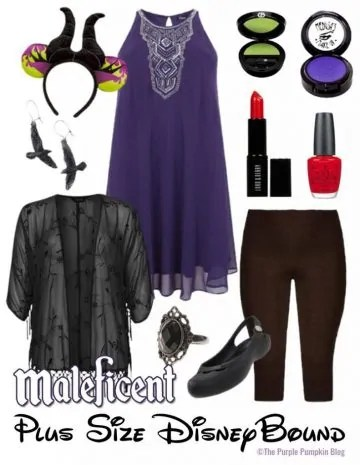 Maleficent - Plus-Size DisneyBound - for when you don