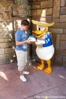 Meeting Donald Duck at Mexico Pavilion Epcot World Showcase