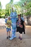 Meeting Flik at Animal Kingdom