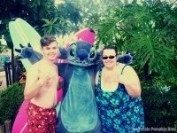 Meeting Stitch at Typhoon Lagoon