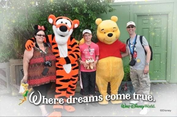 Meeting Tigger and Pooh at Magic Kingdom