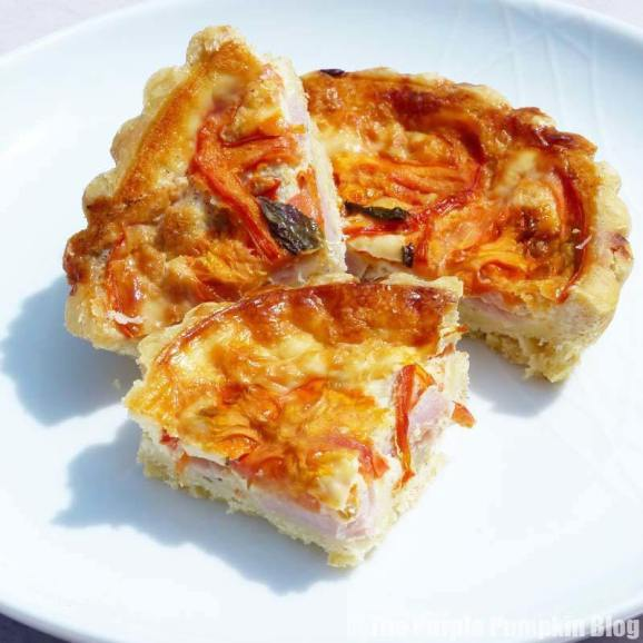 Okemoor - Tomato, Ham + Basil Tart