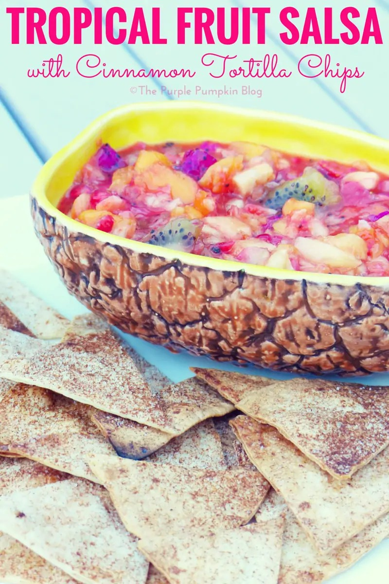 Tropical Fruit Salsa with Cinnamon Tortilla Chips