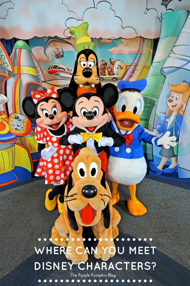 Where Can You Meet Disney Characters? A guide to meeting the characters at Walt Disney World!