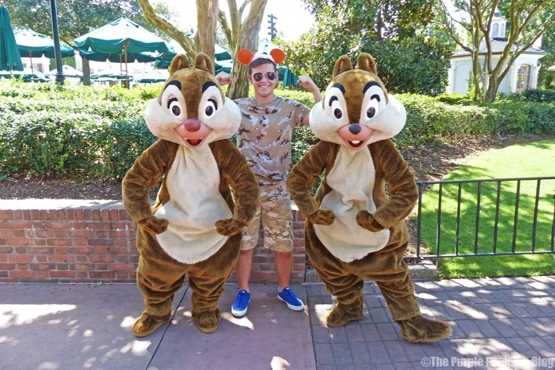 Meeting Chip 'n' Dale at Epcot