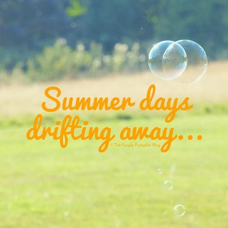 Summer days, drifting away