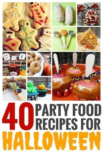 40 Party Food Recipes for Halloween - this is a must pin for Halloween! So many aswesome recipes and fun food ideas on this site!