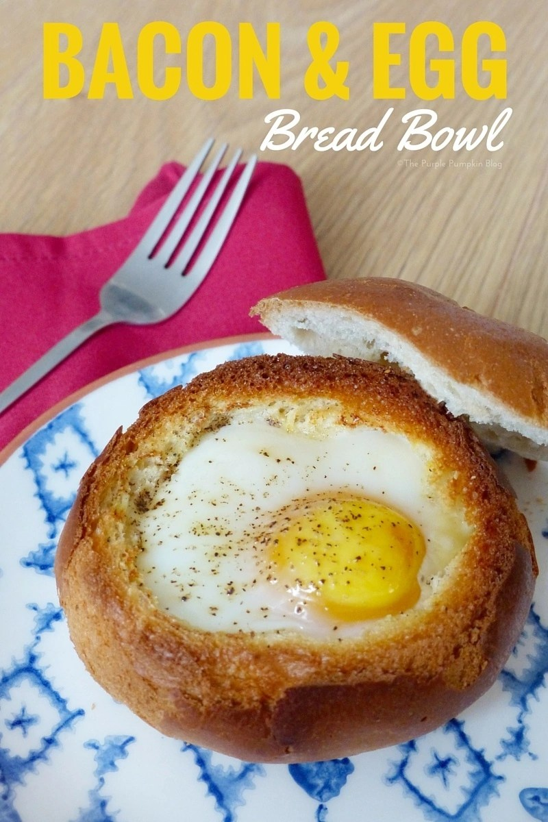 Bacon + Egg Bread Bowl - so easy to make and great to make for brunch!