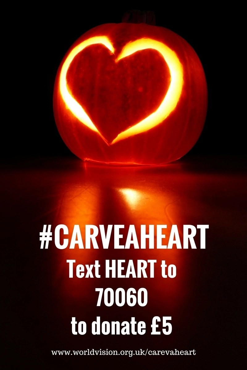 #CarveAHeart - Text HEART to 70060 to donate £5