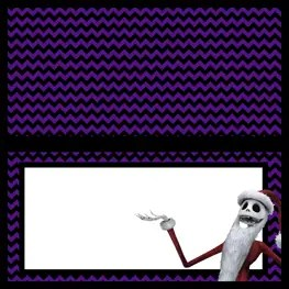 Food Labels - The Nightmare Before Christmas - Free Printables - Jack Skellington Santa