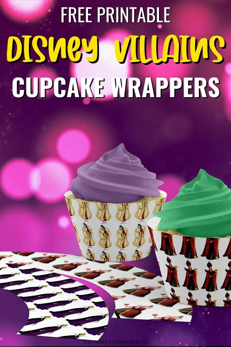 Free Printable Disney Villains Cupcake Wrappers