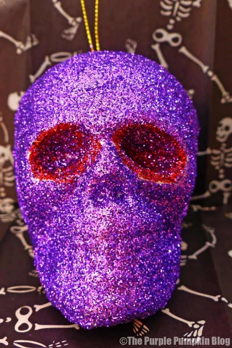 Glitter Skulls Halloween Decorations