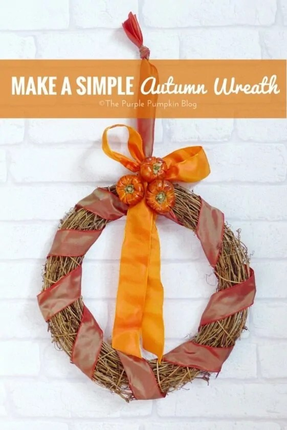 Make a Simple Autumn Wreath