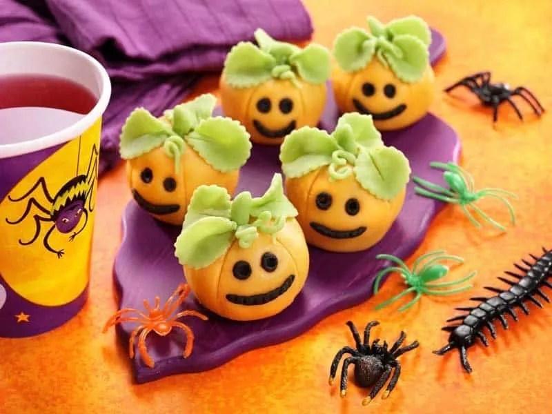 Marzipan Pumpkin Truffles for Halloween