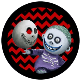 Nightmare Before Christmas - Barrel - Halloween Toppers
