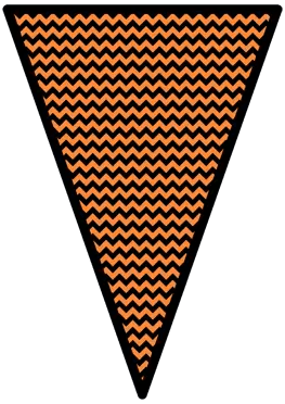 The Nightmare Before Christmas - Orange - Pennants