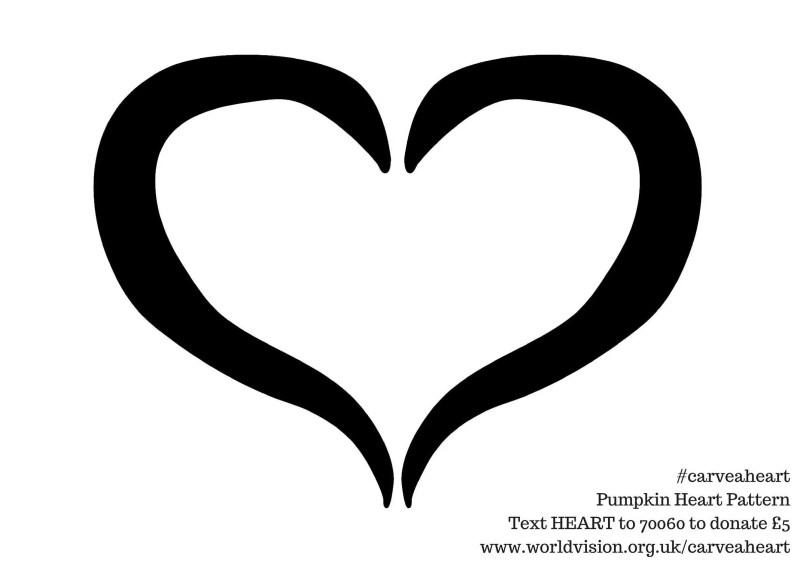 #carveaheart pumpkin heart pattern