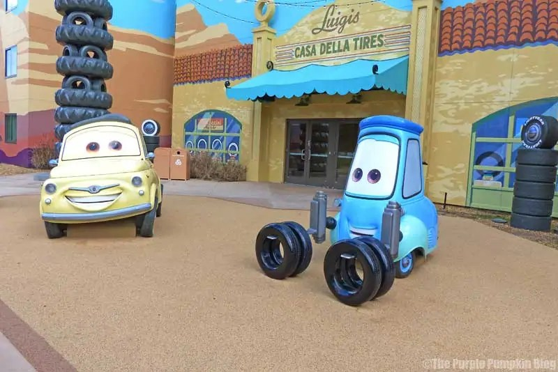 Disney Art of Animation - Cars Courtyard - Luigi Model