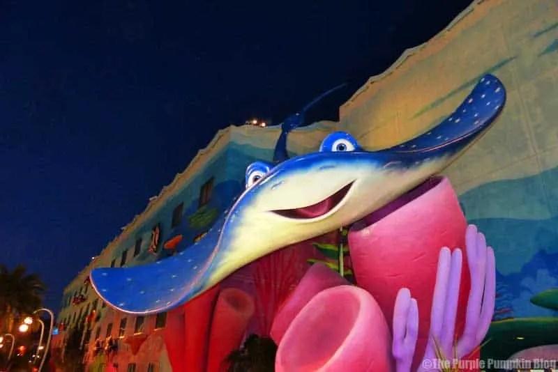 Disney Art of Animation - Finding Nemo Courtyard - Mr Ray Statue