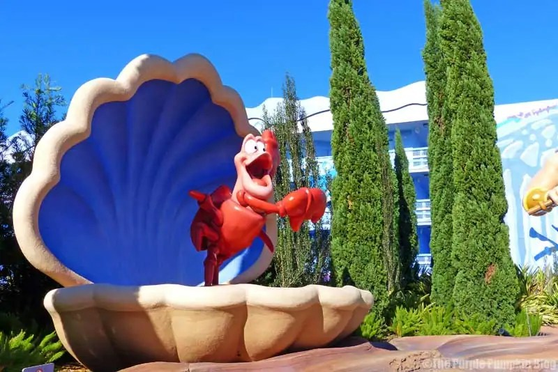 Disney Art of Animation - The Little Mermaid Courtyard - Sebastian the Crab Statue