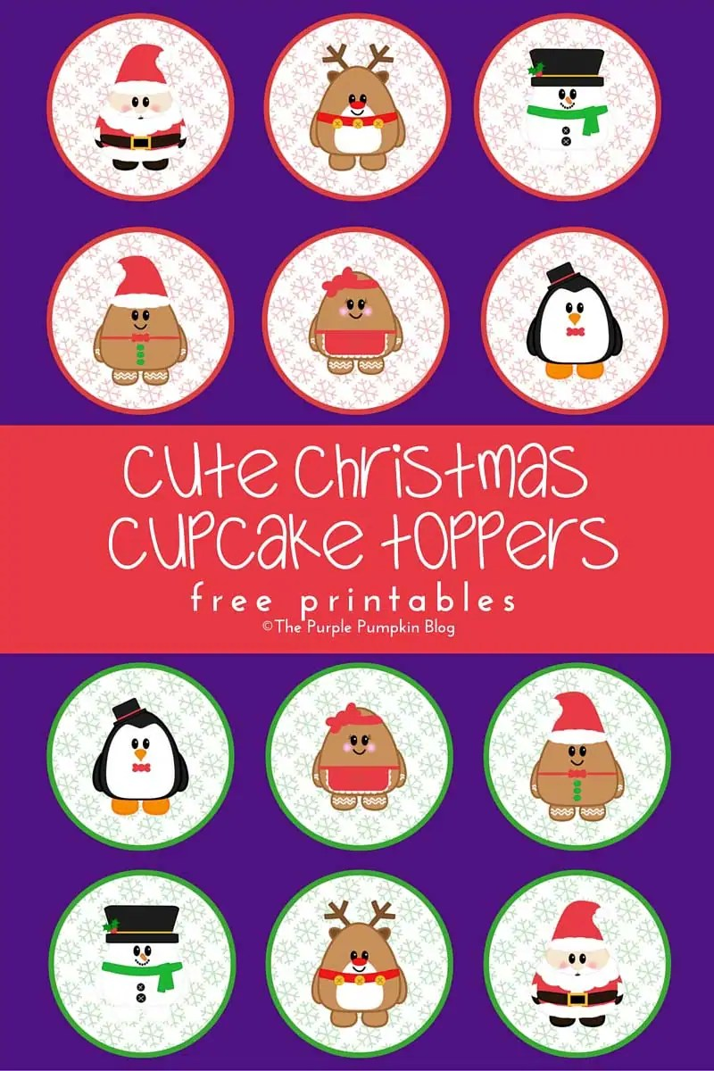 Christmas Cupcake Toppers.Cute Christmas Cupcake Toppers Free Printables
