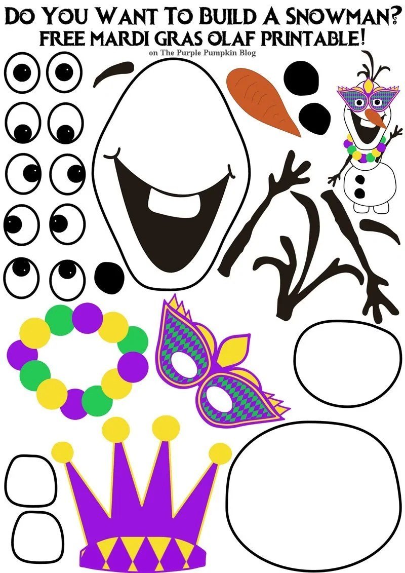 Free frozen printables for I want to make a snowman