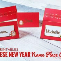 Name Place Cards for Chinese New Year