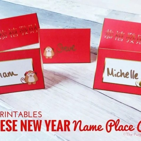 Free Printables - Chinese New Year Name Place Cards
