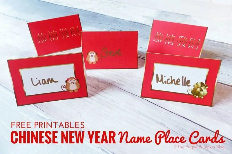 free printables chinese new year name place cards