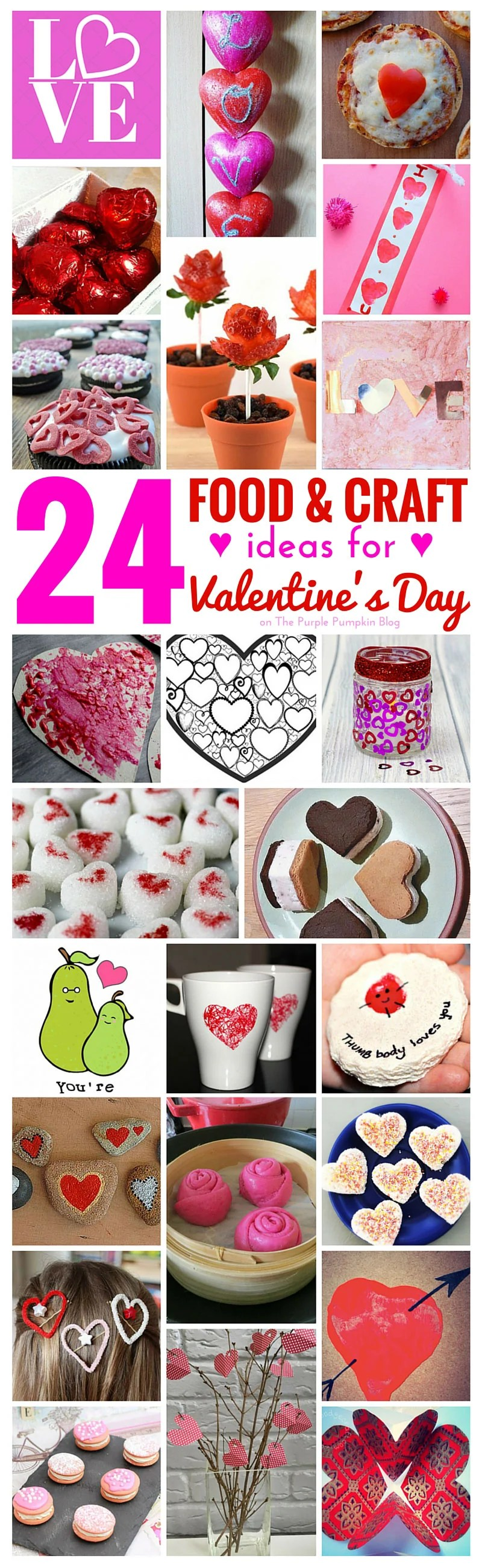 24 Food & Craft Ideas for Valentines Day
