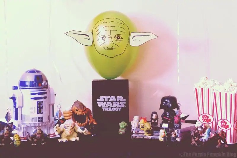 Yoda Balloon - Star Wars Movie Night