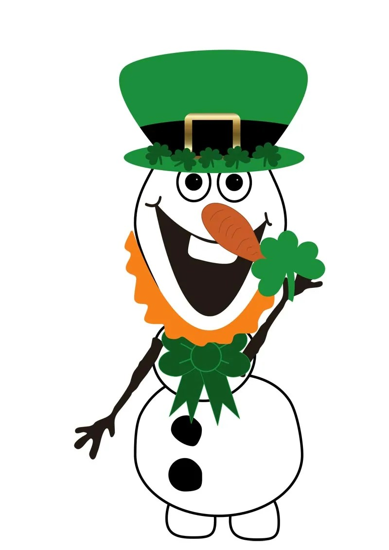 graphic regarding Leprechaun Feet Printable named Do Your self Need to have Towards Acquire A Snowman? St. Patricks Working day Olaf Variation