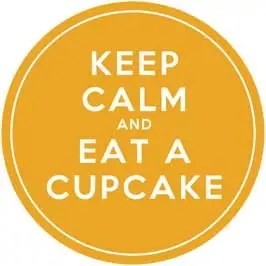 Keep Calm and Eat A Cupcake - Yellow Cupcake Toppers