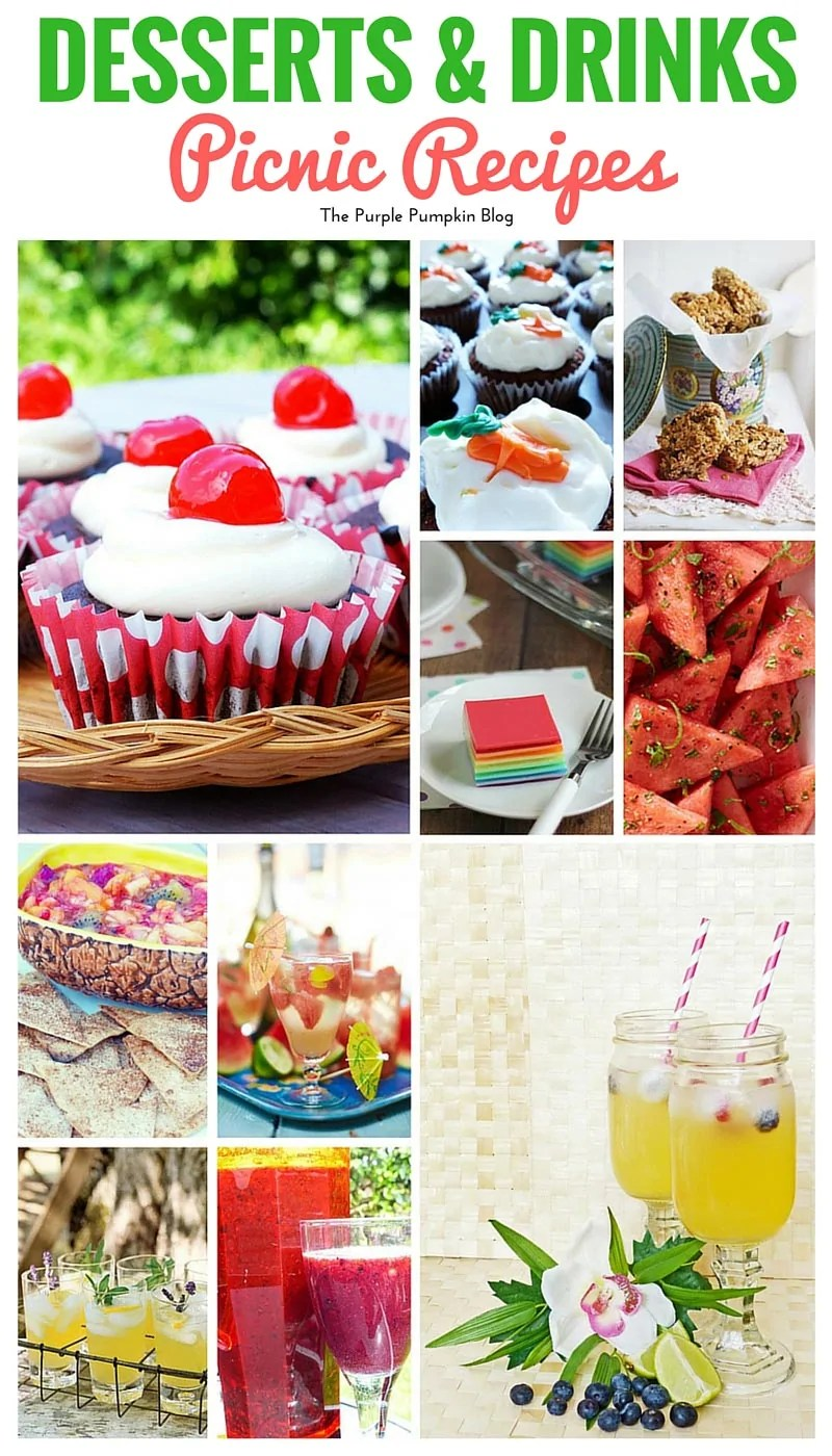 Delicious desserts and drinks to make and take on a picnic, plus 40 more picnic recipes to try out