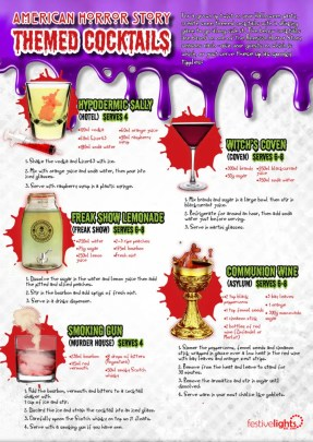 American Horror Story Cocktails