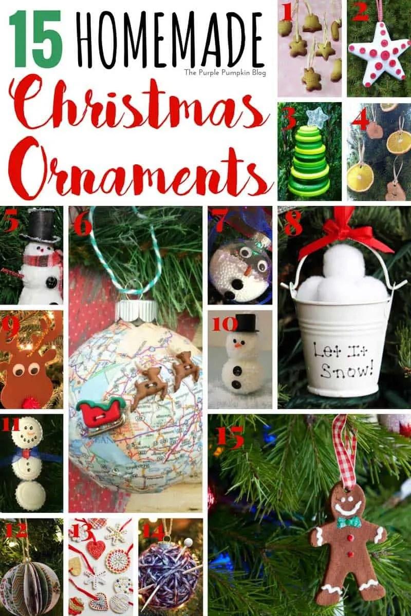 15 homemade christmas ornaments - Home Made Christmas Decorations
