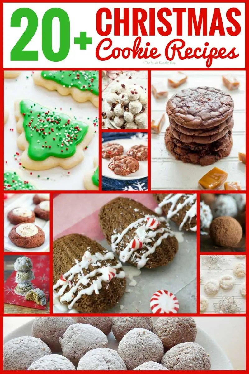 20+ Christmas Cookie Recipes. A varied selection of Christmas cookie recipes, with traditional festive flavours like peppermint, eggnog, clementine, rum, and of course chocolate!