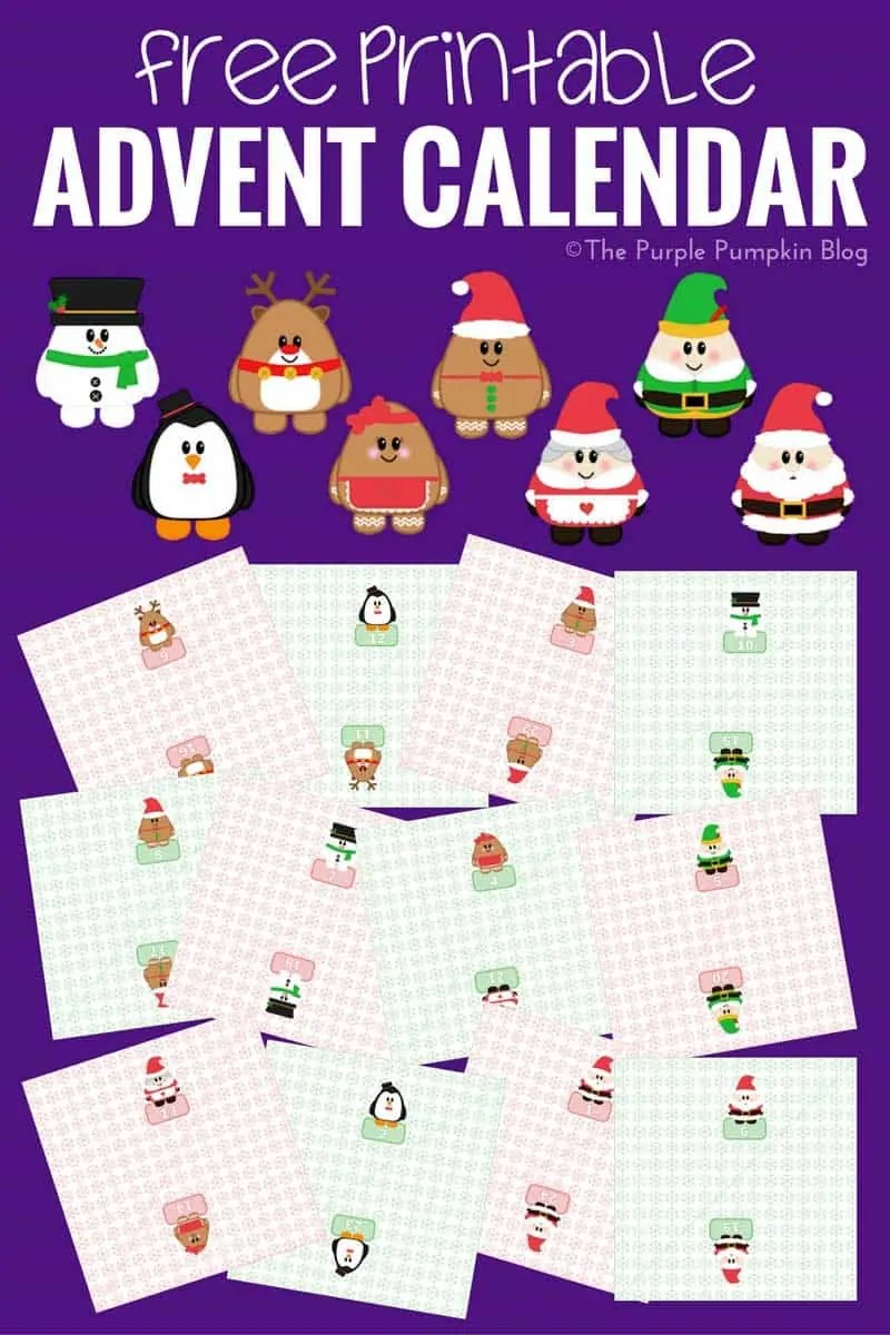 Christmas Calendar Pictures : Handmade advent calendar ideas the purple pumpkin