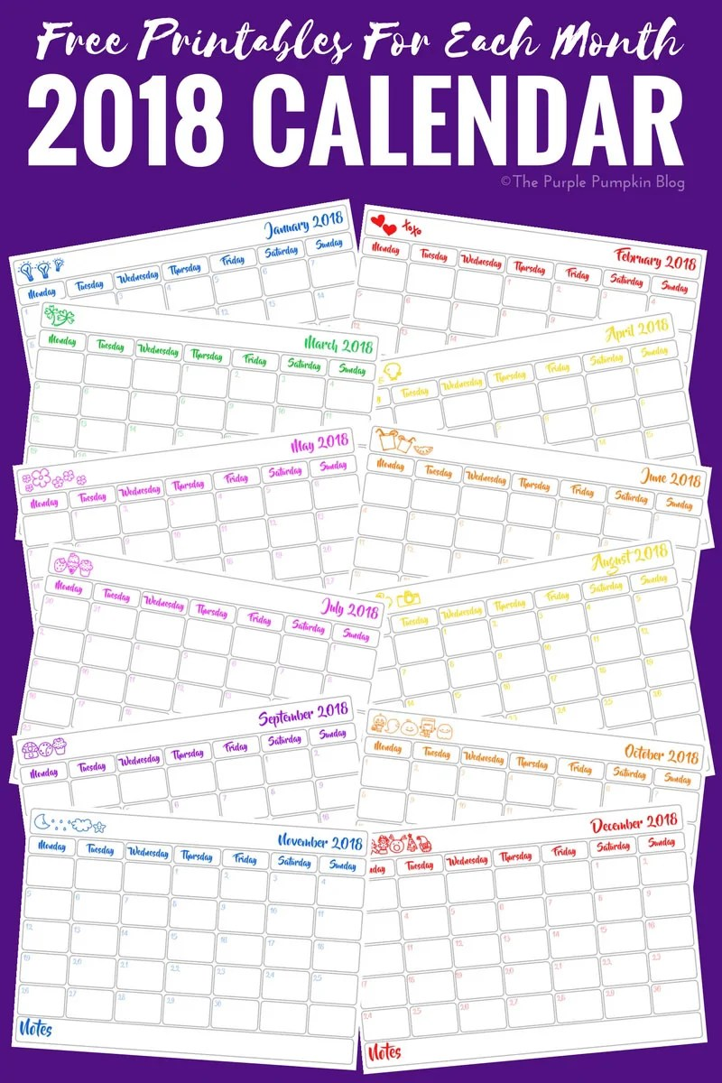 year of dates printables