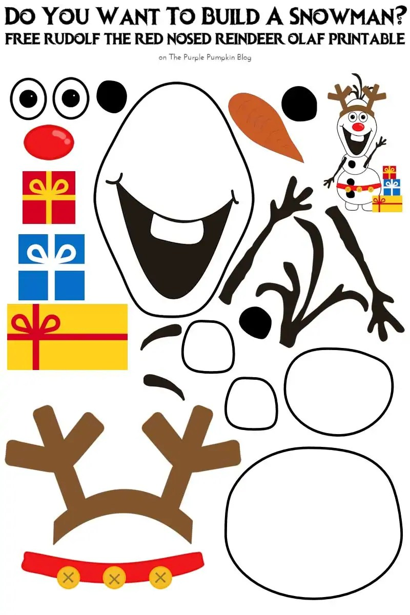 Free disney printables the purple pumpkin blog for I want to make a snowman