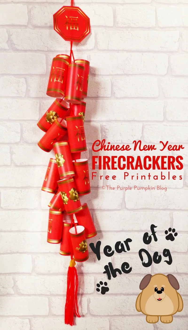 Free Printable Chinese New Year Firecrackers | The Year Of ...
