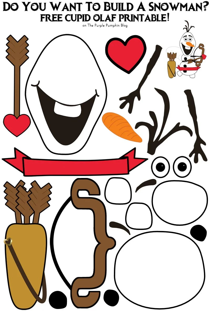 image regarding Free Olaf Printable titled Do Your self Have to have Towards Create A Snowman - Olaf Get together Choose Printable