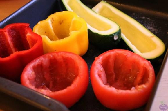 Greek-Cypriot Stuffed Vegetables - hollowed out vegetables