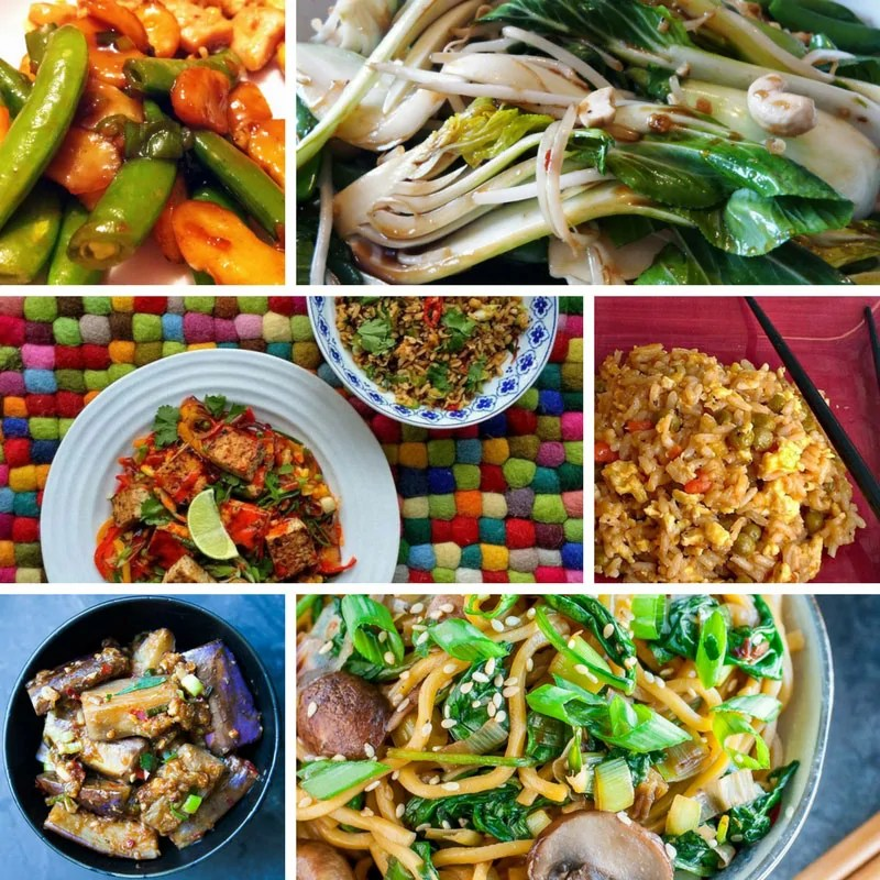 Recipes for Chinese Main Dishes with Vegetables + Vegetarian