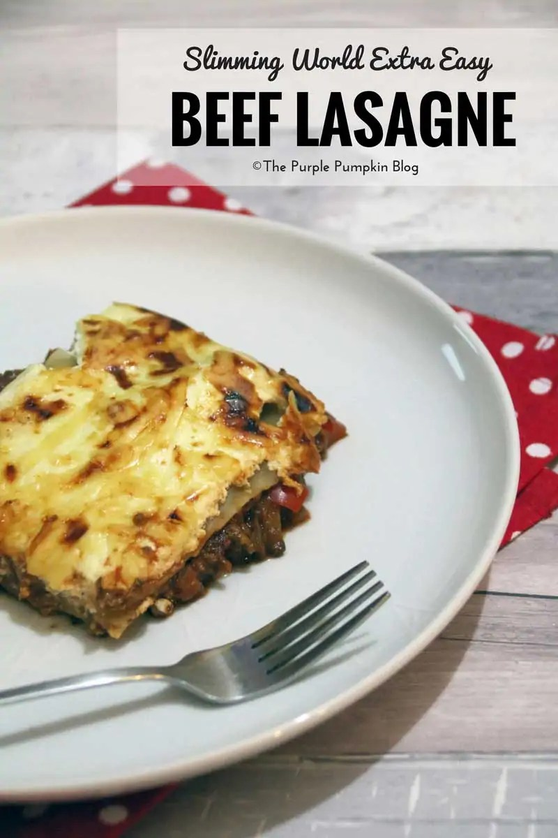 Slimming World Extra Easy Beef Lasagne - this recipe is easy to make, tastes good and won't hurt your healthy eating plan!