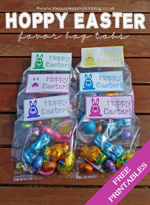 Hoppy Easter Favor Bag Printables